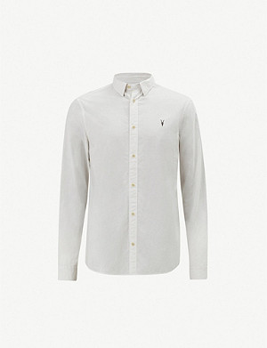 ALLSAINTS Wymer cotton and linen-bend shirt