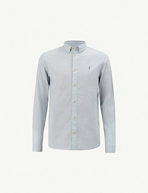 ALLSAINTS Lester striped slim-fit cotton shirt
