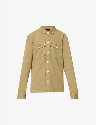ALLSAINTS: Spotter slim-fit cotton-twill shirt