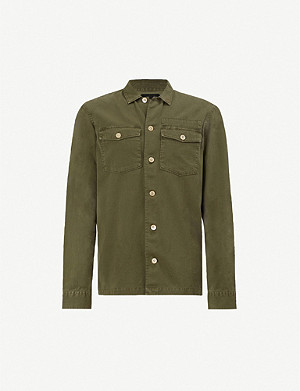 ALLSAINTS Spotter slim-fit cotton-twill shirt