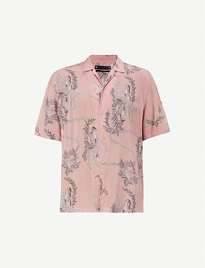 ALLSAINTS Kumu Hawaiian print slim-fit woven shirt
