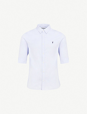 363f31b617cf ALLSAINTS - Redondo slim-fit cotton shirt | Selfridges.com