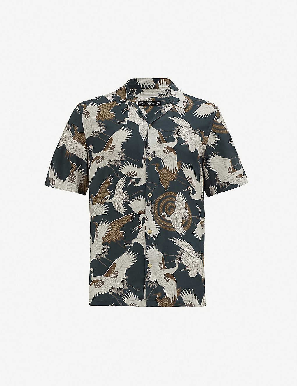 442050915 ALLSAINTS - Hawaiian Shirt Project Tsuru regular-fit poplin shirt |  Selfridges.com