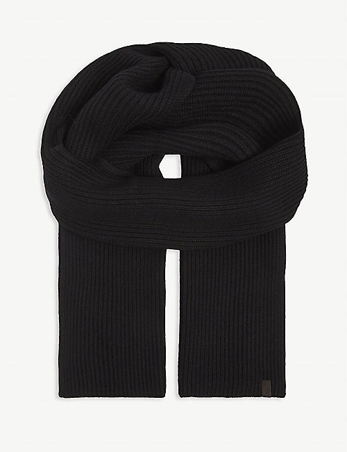 ALLSAINTS: Ribbed merino wool scarf