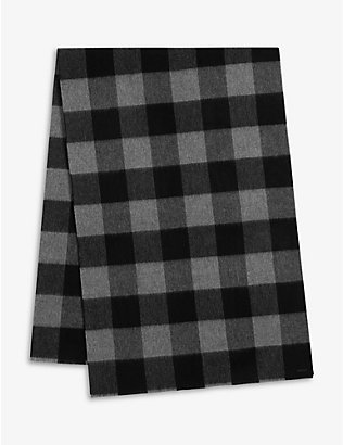 ALLSAINTS: Buffalo checked wool scarf