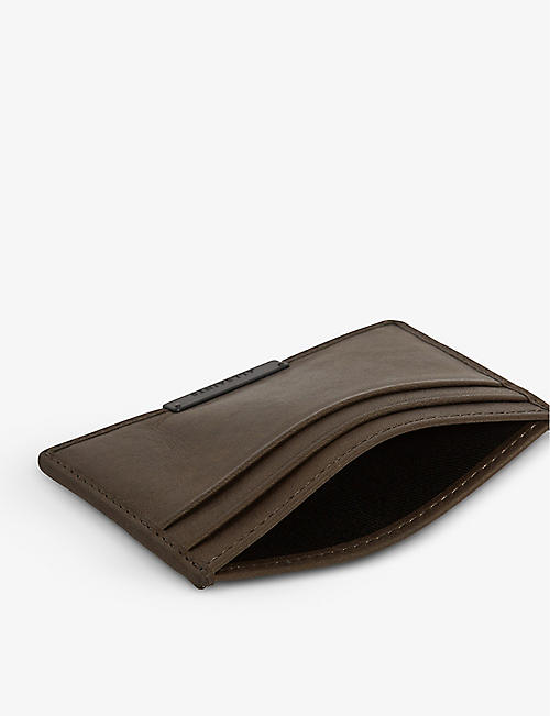 ALLSAINTS Dove leather card holder