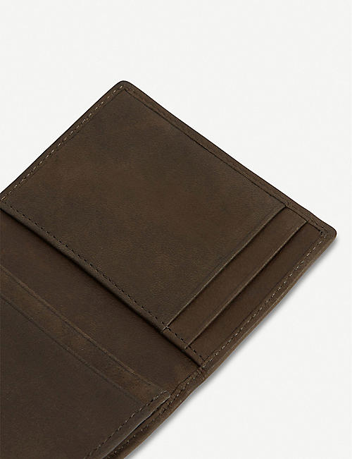 ALLSAINTS Raven leather cardholder