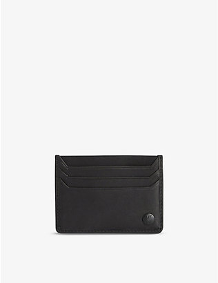 ALLSAINTS: Shard logo-patch leather cardholder