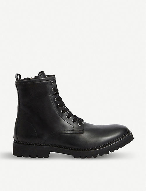 ALLSAINTS Whitmore leather combat boots