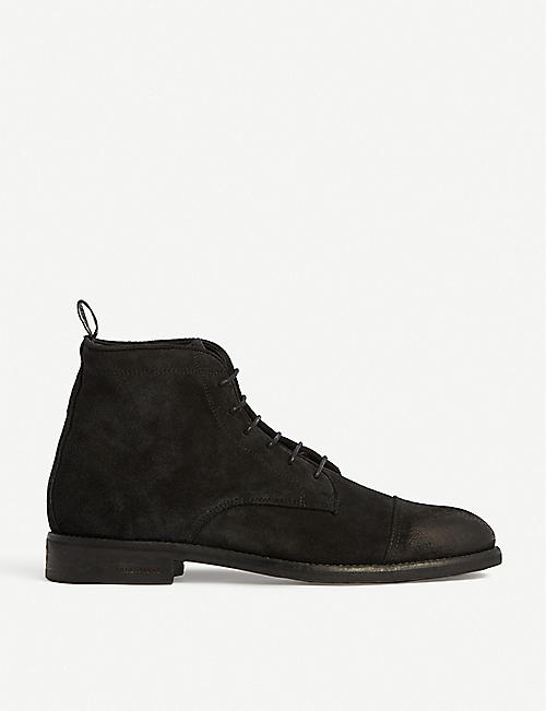 ALLSAINTS: Harland lace-up suede desert boots