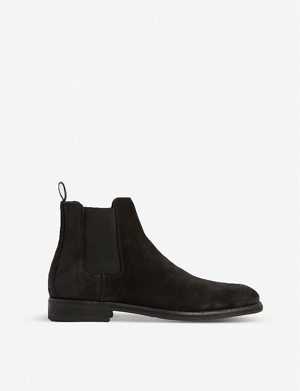 ALLSAINTS: Harley distressed-toe suede Chelsea boots