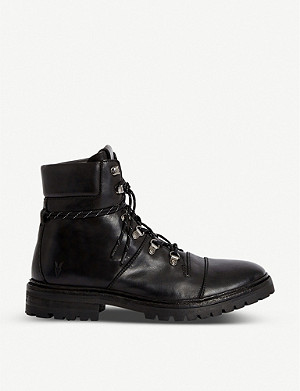 ALLSAINTS Newton leather combat boots