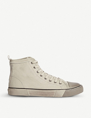 ALLSAINTS Rigg canvas high-top trainers
