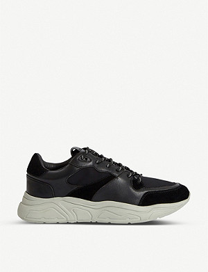 ALLSAINTS Verge leather and neoprene trainers