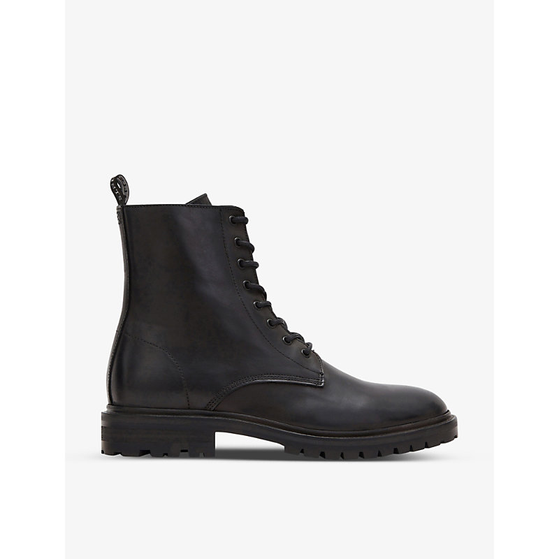 Allsaints TOBIAS LACE-UP LEATHER ANKLE BOOTS