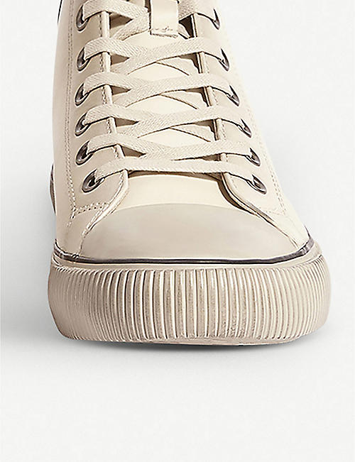 ALLSAINTS Osun high-top leather trainers