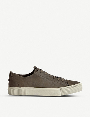 ALLSAINTS Base low-top nubuck leather trainers