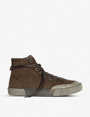 ALLSAINTS Dumont high-top suede trainers