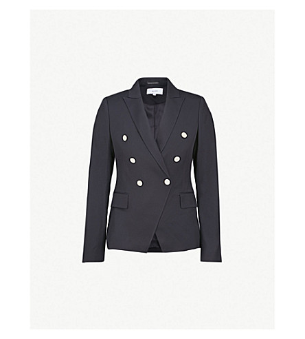 411ff6eb3a REISS Tally double-breasted woven jacket (Navy