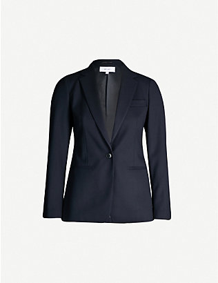 REISS: Hartley slim-fit wool-blend jacket