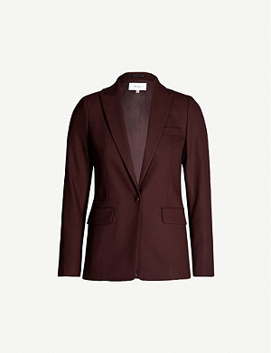 REISS Lissia single-breasted wool-blend blazer