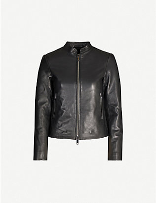 REISS: Allie leather motorcycle jacket