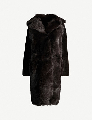 REISS Darcy reversible fur coat