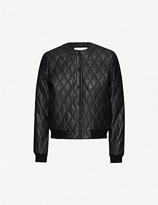 REISS: Ottolie leather jacket