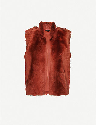 REISS: Tessa sleeveless shearling gilet
