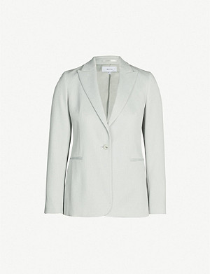 REISS Neya crinkled single-breasted blazer
