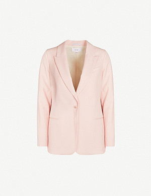 REISS Beatrix single-breasted wool-blend blazer