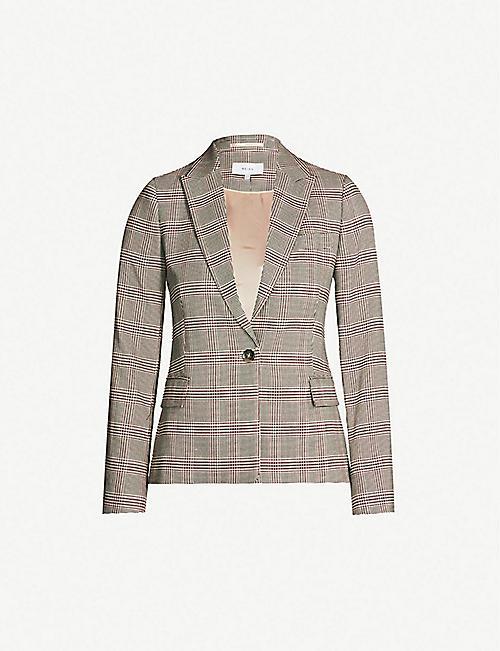 129ca9c3f6897 REISS Connie checked woven blazer