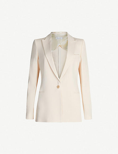 Coats, Jackets & Vests Reiss Beige Jacket Size 8 Moderate Price Clothing, Shoes & Accessories
