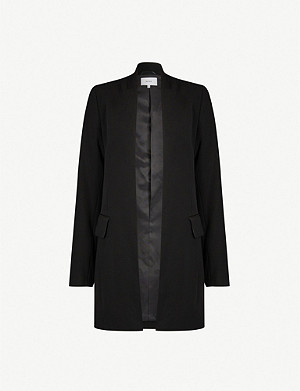 REISS Tally slim-fit crepe blazer