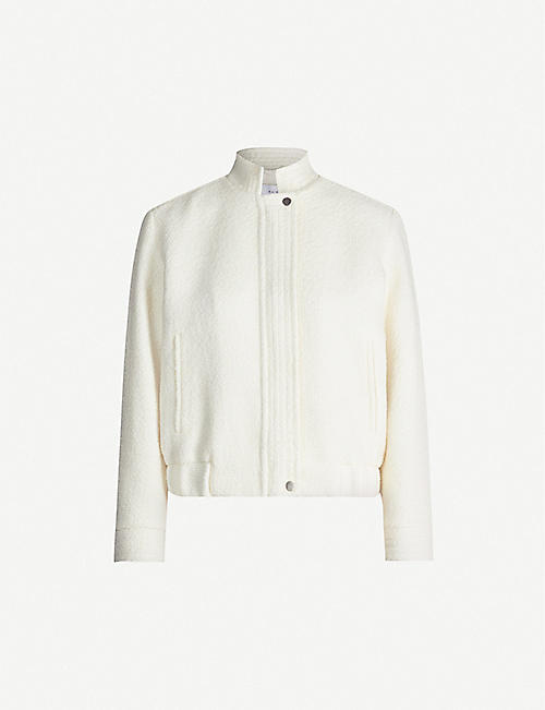 REISS Tahlia wool-blend bomber jacket