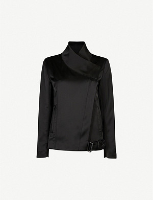 REISS Harriet crepe biker jacket