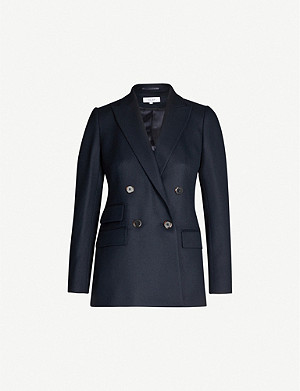 REISS Ledbury double-breasted wool-blend blazer
