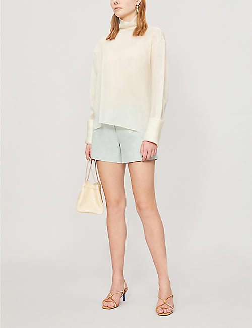REISS Lyla tailored cotton-blend shorts