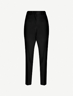 REISS Hartley slim-leg wool-blend hopsack trousers