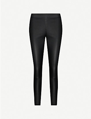 REISS: Goldie leather leggings