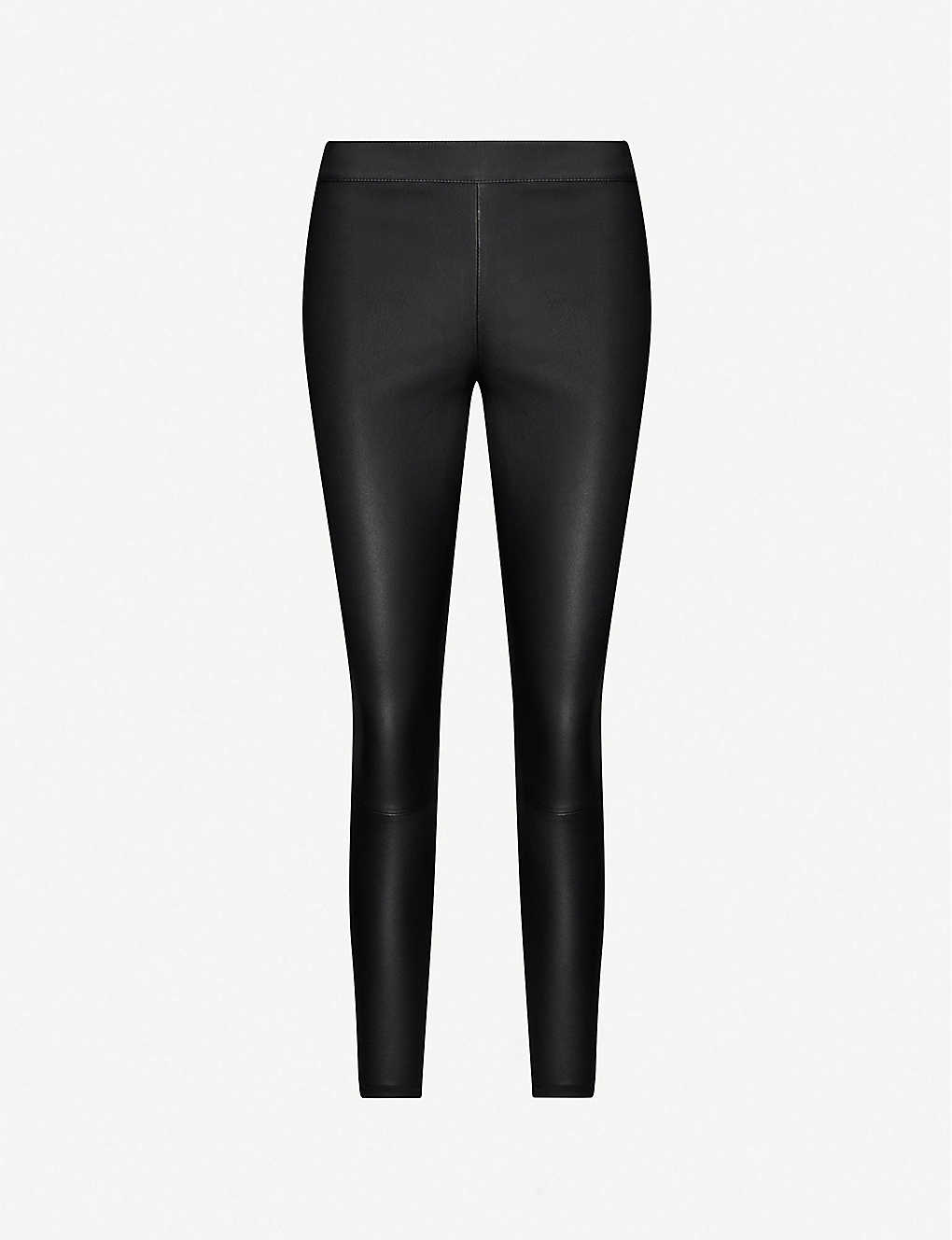 3405c2c4a94101 REISS - Goldie leather leggings | Selfridges.com