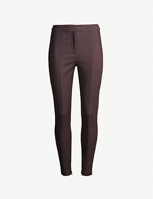 REISS Arla skinny cotton-blend trousers