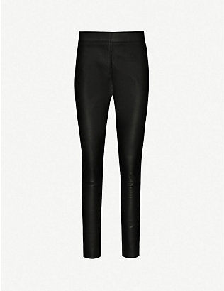 REISS: Valerie leather leggings