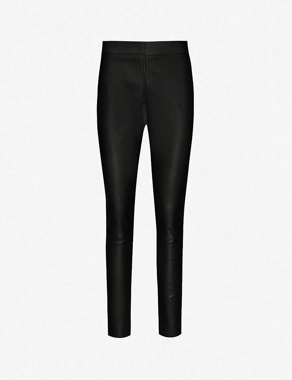 ee55bd22dd7a REISS - Valerie skinny leather trousers | Selfridges.com