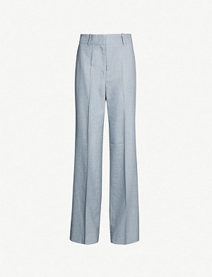 REISS Essie wide-leg wool-blend trousers