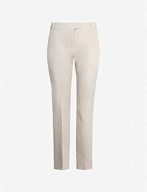 REISS Joanne high-rise cropped crepe trousers