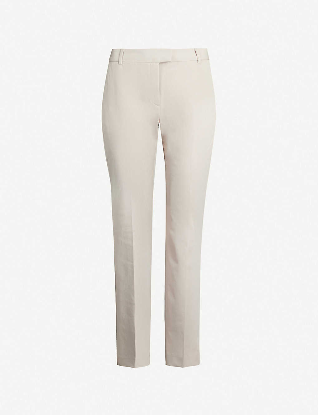 REISS: Joanne high-rise cropped crepe trousers