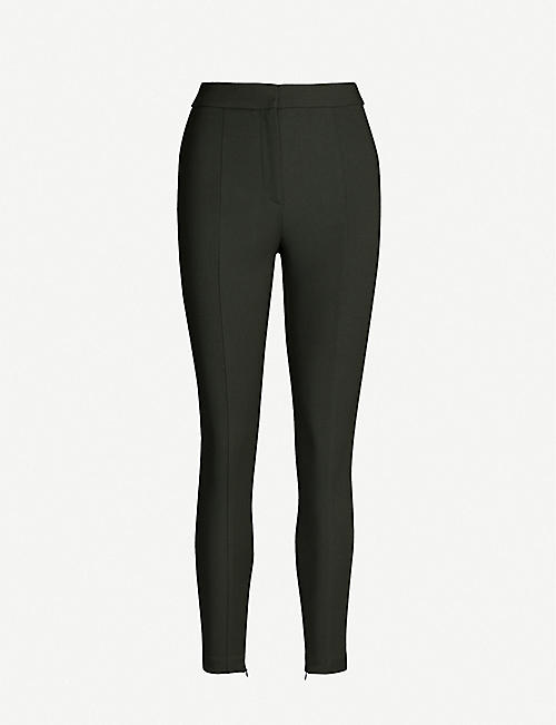 REISS Arla zipped-cuff tapered trousers