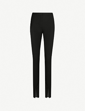 REISS Ayn split-hem skinny stretch-crepe trousers