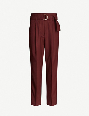 REISS Blythe straight wool-blend trousers
